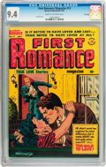 Golden Age (1938-1955):Romance, First Romance Magazine #13 File Copy (Harvey, 1952) CGC NM 9.4Cream to off-white pages....