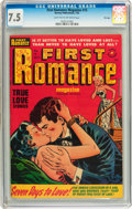 Golden Age (1938-1955):Romance, First Romance Magazine #15 File Copy (Harvey, 1952) CGC VF- 7.5Light tan to off-white pages....