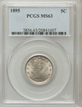 Liberty Nickels: , 1895 5C MS63 PCGS. PCGS Population (101/187). NGC Census: (80/175).Mintage: 9,979,884. Numismedia Wsl. Price for problem f...