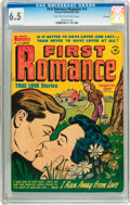 Golden Age (1938-1955):Romance, First Romance Magazine #16 File Copy (Harvey, 1952) CGC FN+ 6.5Light tan to off-white pages....