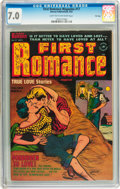 Golden Age (1938-1955):Romance, First Romance Magazine #17 File Copy (Harvey, 1952) CGC FN/VF 7.0Light tan to off-white pages....