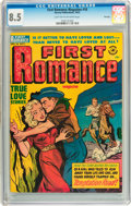 Golden Age (1938-1955):Romance, First Romance Magazine #18 File Copy (Harvey, 1952) CGC VF+ 8.5Light tan to off-white pages....