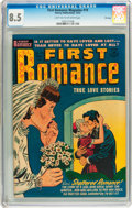 Golden Age (1938-1955):Romance, First Romance Magazine #19 File Copy (Harvey, 1952) CGC VF+ 8.5Light tan to off-white pages....