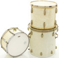 Musical Instruments:Drums & Percussion, Circa 1950's to 1960's WFL Slingerland White MOTS Drums....