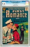 Silver Age (1956-1969):Romance, First Romance Magazine #42 File Copy (Harvey, 1956) CGC VF- 7.5Light tan to off-white pages....