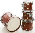 Musical Instruments:Drums & Percussion, Yamaha DW Wine Red Drum Set, #200169....
