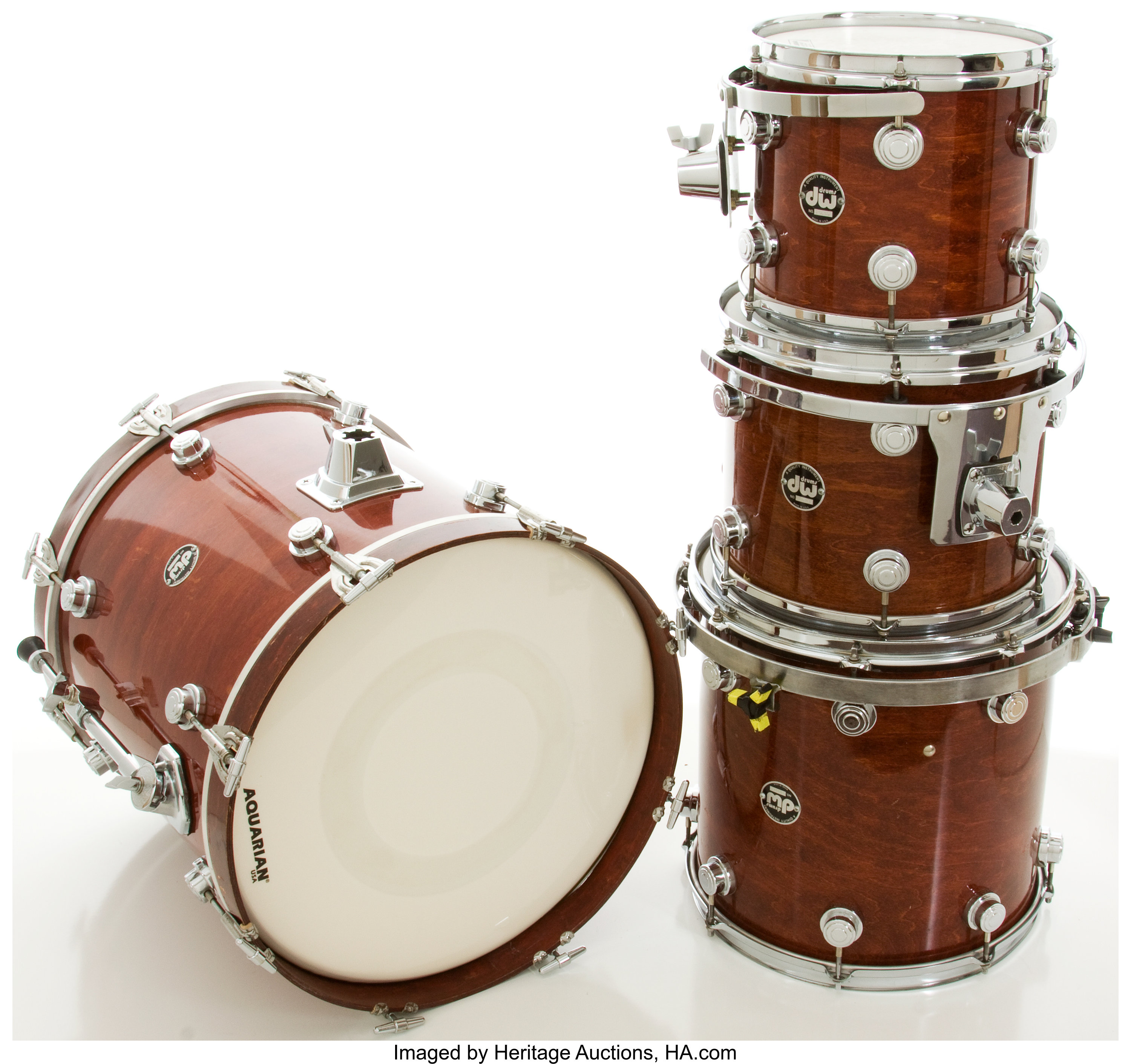 Yamaha DW Wine Red Drum Set, #200169     Musical Instruments Drums
