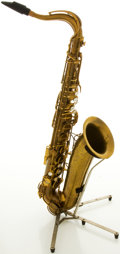 Musical Instruments:Horns & Wind Instruments, 1947 The Martin Brass Tenor Saxophone, #155710....