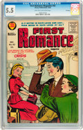 Silver Age (1956-1969):Romance, First Romance Magazine #43 File Copy (Harvey, 1956) CGC FN- 5.5 Light tan to off-white pages....