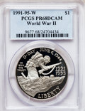 Modern Issues, 1991-1995W $1 World War II Silver Dollar PR68 Deep Cameo PCGS. PCGSPopulation (160/2202). NGC Census: (49/2685). Mintage: ...