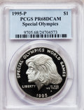 Modern Issues: , 1995-P $1 Special Olympics Silver Dollar PR68 Deep Cameo PCGS. PCGSPopulation (122/1163). NGC Census: (35/1154). Numismed...