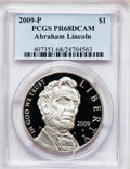 Modern Issues, 2009-P $1 Lincoln PR68 Deep Cameo PCGS. PCGS Population (264/8477).NGC Census: (60/17094). The image displayed is a stoc...
