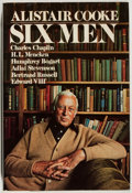 Books:Biography & Memoir, Alistair Cooke. SIGNED. Six Men. New York: Alfred A. Knopf,1977. Later printing. Signed by the author on the ...