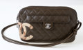 Luxury Accessories:Bags, Heritage Vintage: Chanel Khaki Lambskin Quilted ShoulderBag. ...