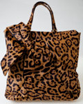 Luxury Accessories:Bags, Heritage Vintage: Valentino Leopard Ponyhair Large Tote. ...