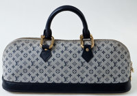 Heritage Vintage: Louis Vuitton Navy Monogram Canvas Mini Alma Long Bag
