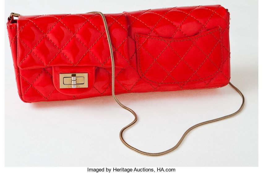 cf15647830f3 Heritage Vintage  Chanel Red Patent Leather Double-Sided Flap