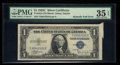 Error Notes:Attached Tabs, Fr. 1612 $1 1935C Silver Certificate. PMG Choice Very Fine 35 EPQ.....