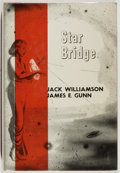 Books:Science Fiction & Fantasy, Jack Williamson and James E. Gunn. GNOME PRESS FILE COPY AND SIGNED BY THE AUTHORS. Star Bridge. New York: Gnome...