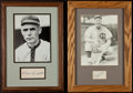 Baseball Collectibles:Others, Clark Griffith and Gabby Hartnett Signed Cut Signature Displays Lotof 2....