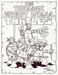 Original Comic Art:Illustrations, Kevin Eastman and Peter Laird: First-Ever Drawing of the TeenageMutant Ninja Turtles (1983)....