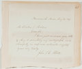 Autographs:Authors, John Stevens Cabot Abbott (1805-1877, American Writer and Historian). Autograph Letter Signed. Brunswick: Aug. 20, 1857. App...