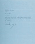 Autographs:Authors, Clive Barker (1952- , British Horror Writer). Typed Letter Signed. July 9, 1987. Approximately 10 x 8 inches. Three horizont...
