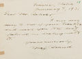 Autographs:Authors, Max Brand [Frederick Faust] (1892-1944, American Writer of WesternNovels). Autograph Letter Signed. January 4, 1931. On thi...
