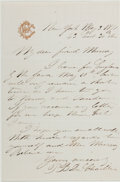 Autographs:Non-American, Paul Belloni du Chaillu (1831-1903, French-American Explorer).Autograph Letter Signed. New York: May 3, 1871. Author's mono...