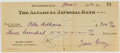 Autographs:Authors, Zane Grey. (1872-1939, American Writer of Western Novels). Signed Personal Check. Altadena: 10 June, 1930. Approximately 2.5...