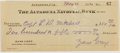 Autographs:Authors, Zane Grey. (1872-1939, American Writer of Western Novels). SignedPersonal Check. Altadena: 26 May, 1930. Approximately 2.5 ...