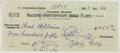 Autographs:Authors, Zane Grey. (1872-1939, American Writer of Western Novels). Signed Personal Check. Altadena: 25 October, 1928. Approximately ...