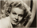 Autographs:Celebrities, Jean Harlow (1911-1937, American Film Actress). Mat-FinishProduction Still Signed and Inscribed by Harlow's Mother.Approxi...