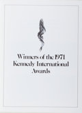 Autographs:Statesmen, Ethel Kennedy (1928- , Widow of Robert F. Kennedy). Signed Programfor the 1971 Kennedy International Awards Ceremony. Octob...