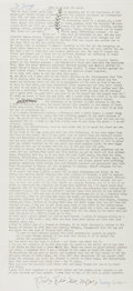 Autographs:Celebrities, Mary Sirhan (Mother of Sirhan Sirhan). Signed Printed Document, This is My Plea for Peace. Approximately 17.25 x 8 i...
