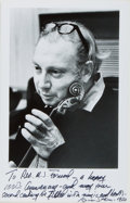 Autographs:Artists, Isaac Stern (1920-2001, Ukrainian Violinist and Conductor). Signed and Inscribed Photograph. 1977. Approximately 8 x 5 inche...