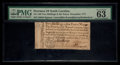 Colonial Notes:North Carolina, North Carolina December, 1771 2s 6d PMG Choice Uncirculated 63EPQ.. ...