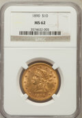 Liberty Eagles: , 1890 $10 MS62 NGC. NGC Census: (54/6). PCGS Population (84/15).Mintage: 57,900. Numismedia Wsl. Price for problem free NGC...