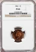 Proof Indian Cents: , 1862 1C PR65 NGC. NGC Census: (154/62). PCGS Population (78/31). Mintage: 550. Numismedia Wsl. Price for problem free NGC/P...