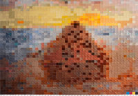 VIK MUNIZ (Brazilian, b. 1961) Haystack #3, after Monet (from Pictures of Color), 2001 Cibachrome pr