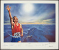 "Miscellaneous Collectibles:General, 1994 ""Victory"" Signed Lithograph with Neil Armstrong, Muhammad Aliand Others...."