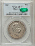 Coins of Hawaii: , 1883 50C Hawaii Half Dollar XF40 PCGS. CAC. PCGS Population(71/473). NGC Census: (35/332). Mintage: 700,000. (#10991)...