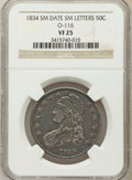 Bust Half Dollars: , 1834 50C Small Date, Small Letters VF25 NGC. O-116. PCGS Population(19/848). (#6166)...