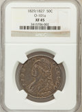 Bust Half Dollars, 1829/7 50C XF45 NGC. O-101a. NGC Census: (19/139). PCGS Population(32/131). Numismedia Wsl. Price for problem free NGC/PC...
