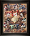 Baseball Collectibles:Photos, 3000 Hit Club Multi Signed Oversized Photograph....