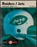 "Football Collectibles:Programs, 1968 AFL ""Heidi Game"" Program. ..."