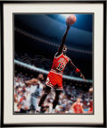 "Basketball Collectibles:Uniforms, Michael Jordan ""No 12"" Signed Upper Deck Authenticated OversizedPhotograph...."