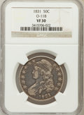 Bust Half Dollars: , 1831 50C VF30 NGC. O-118. NGC Census: (41/1393). PCGS Population(43/1550). Mintage: 5,873,660. Numismedia Wsl. Price for p...