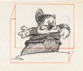 Animation Art:Production Drawing, Snow White and the Seven Dwarfs Happy Production DrawingAnimation Art (Disney, 1937)....