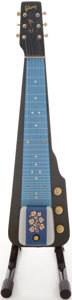 Musical Instruments:Lap Steel Guitars, Mid 1950's Gibson Ultratone Blue Lap Steel Guitar....